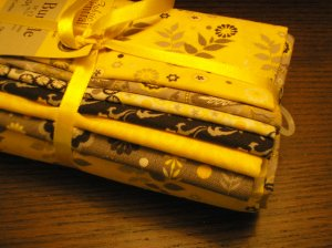 yellow fat quarters